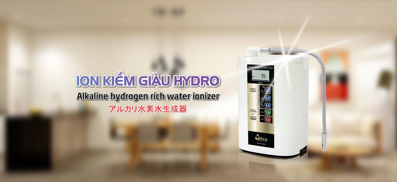 Máy lọc nước ion kiềm giàu hydro atica
