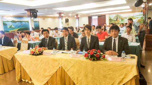 Đại diện tập đoàn Hitachi Maxell tại buổi ra mắt Atica tại HCM
