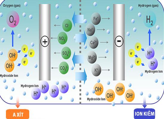 Công nghệ rửa điện cực trong máy tạo nước ion kiềm giàu hydro