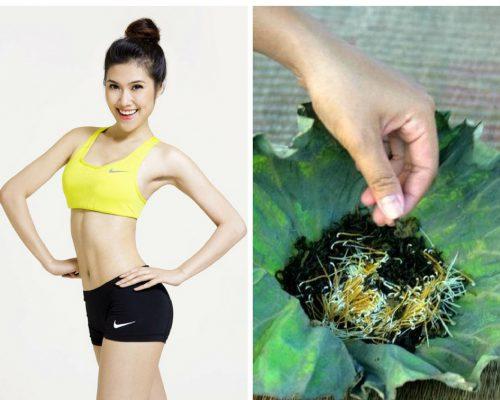 Uống nước lá sen giảm béo
