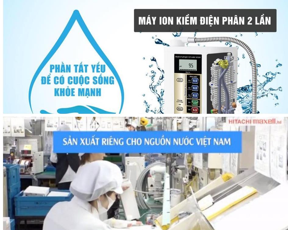 Nước ion kiềm giàu hydro Atica Nhật Bản