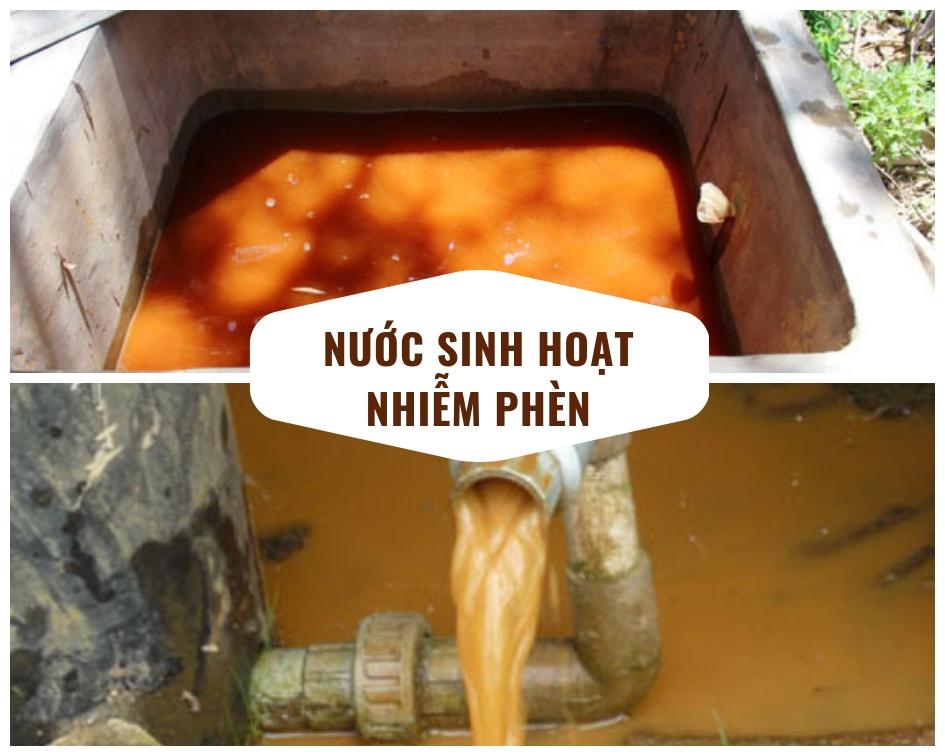 Nước sinh hoạt nhiễm phèn