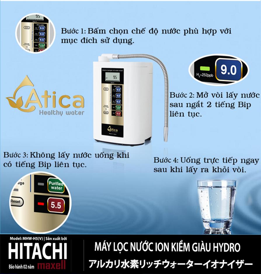 Hướng dẫn sử dụng máy lọc nước Atica MHW-H5(V)
