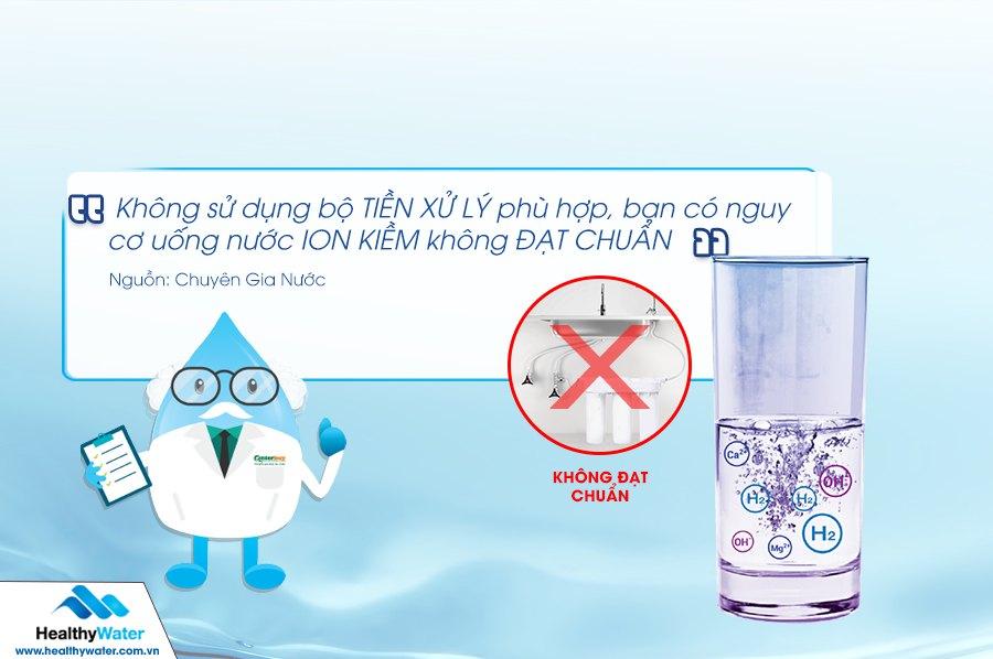 Không sử dụng bộ tiền xử lý và dịch vụ thay lõi bảo trì định kỳ, bạn có nguy cơ uống nước không đạt chuẩn