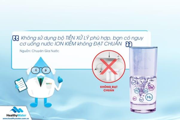 Sử dụng bộ tiền lọc không phù hợp bạn có nguy cơ uống nước bẩn chứ chưa nói đến tốt cho sức khỏe