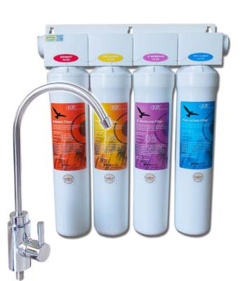 Máy lọc nước UF thường được bổ sung thêm các lõi PP, than hoạt tính, cation để tạo thành máy lọc UF hoàn chỉnh